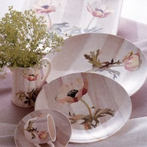 Gien Faience Anemones 5 Piece Place Setting Dinnerware