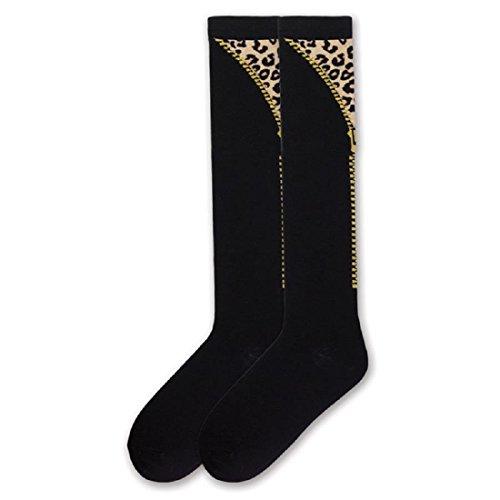 - K. Bell Women's Patterned Knee High Socks, Leopard, 9-11