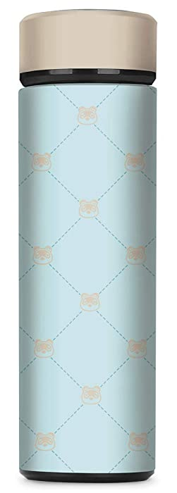 Controller Gear Animal Crossing: New Horizons - Tom Nook Quilted Vacuum Insulated Stainless Steel Sport Water Bottle, Leak Proof, Wide Mouth, 17 oz, 500 ML - Not Machine Specific