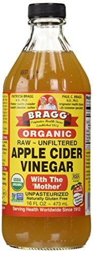 Organic Raw Apple Cider Vinegar Unfiltered Bragg 16 oz Liquid