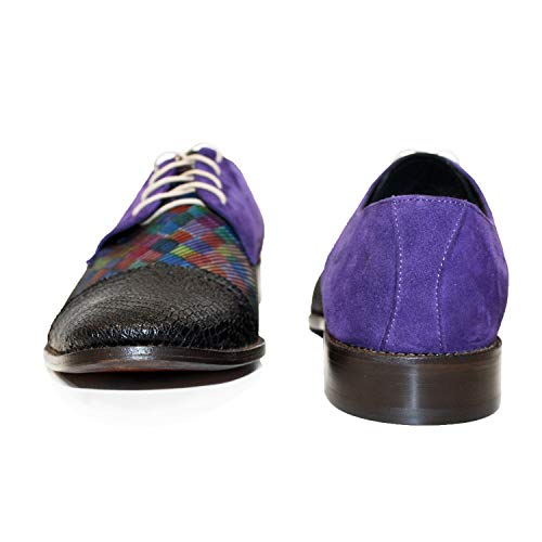 per Modello Colorful Osklivello a Peppeshoes Cowhide Soft Lacer Shoes mano italiana fatta Oxford In pelle uomo g8qdSw