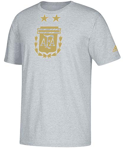 adidas Argentina Brushed Stripes Tee- Grey L