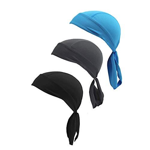 (Motorcycle Biker Windproof Cycling Sweatband Doo Rag Headwrap Skull Cap Hat)