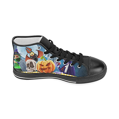 D-Story Custom Happy Halloween Pumpkin Womens Classic High Top Canvas Shoes Fashion Sneaker Multicoloured9 smiZBx9j