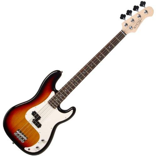 Rocktile Groover's Pack PB E-Bass Komplettset Sunburst (Verstärker, Tasche, Kabel, Gurt, Ersatzsaiten und Schule mit DVD)
