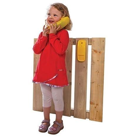 LoggyLand Teléfono Infantil para Torre/caseta de Juego Rojo: Amazon.es: Juguetes y juegos