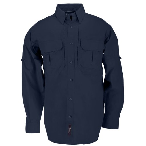 5.11 Tactical Tactical Long-Sleeve Shirt, Fire Navy, Large by 5.11