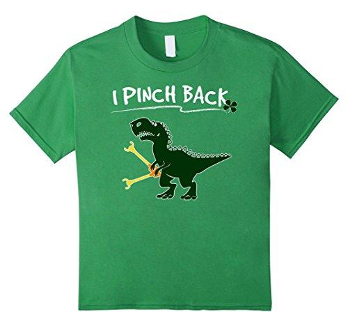[Kids I Pinch Back Dinosaur Tshirt - Kids St Patricks Day Shirts 6 Grass] (St Patricks Day Shirts For Toddlers)