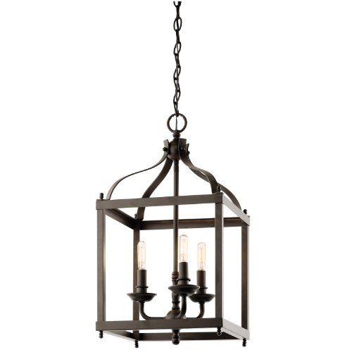 Kichler Lighting 42566OZ Larkin 3-Light Foyer Pendant, Olde Bronze Finish