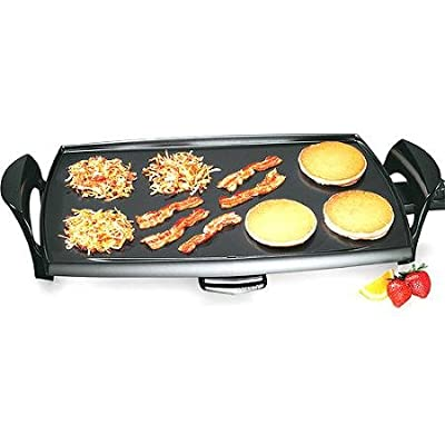 "Jumbo Professional 22"" Electric Griddle, Black"