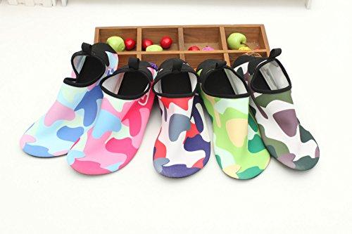 SexRt Männer und Frauen Mutifunctional Wasser Schuhe zum Schwimmen, Pool, Strand Dunkelgrün