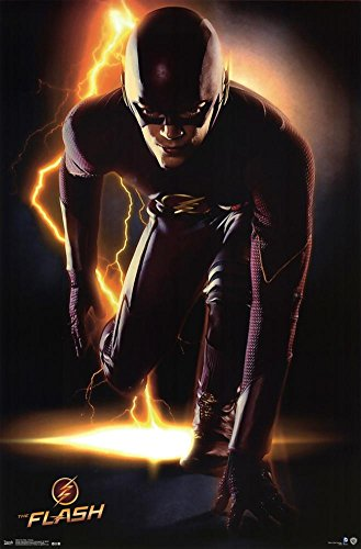 Black Wood Framed Poster the Flash Cw Tv Show / Print - Portrait