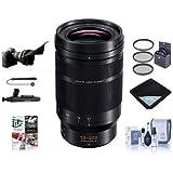 Panasonic Lumix G Leica DG Vario-Elmarit 50-200mm F/2.8-4 Aspheical Lens Micro 4/3 - Bundle 62mm Filter Kit, Lens Wrap, Cleaning Kit, Flex Lens Shade, Capleash, Lenspen Cleaner, PC Software