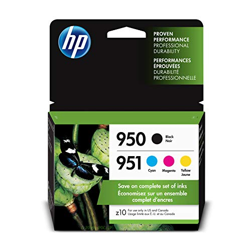 HP 950/951 Black, Cyan, Magenta & Yellow Ink Cartridges, 4 Cartridges (CN049AN, CN050AN, CN051AN, CN052AN) ()