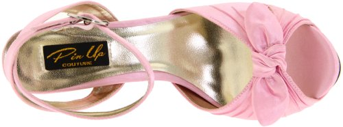 Pleaser Women's Bettie-04/BP Ankle-Strap Sandal Pink Satin CAn4S