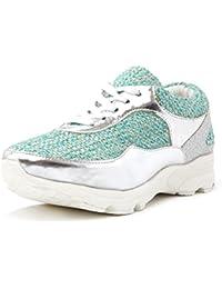 Jeffrey Campbell Women'S Run Walk Tweed Gold Sneakers In Size 37 Gold x1KRnE