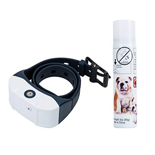 Jing Cheng [Newest 2019] Dog Bark Spray Collar, Rechargeable Waterproof Anti-bark Adjustable Pet Training Collars Device for Small Medium Large Dogs (Dog Collars With Water Spray)