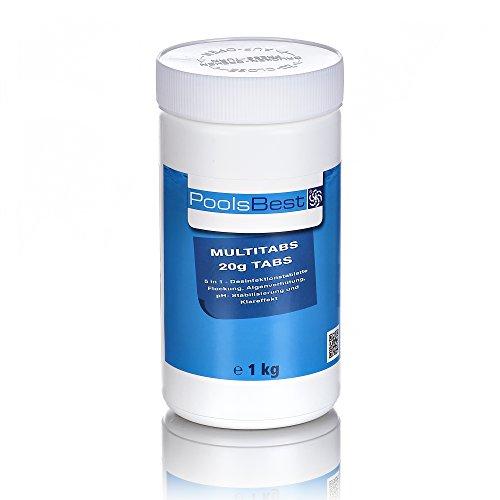 1 Kg - PoolsBest Mini - Multitabs 5 in 1, 20 g Tabletten