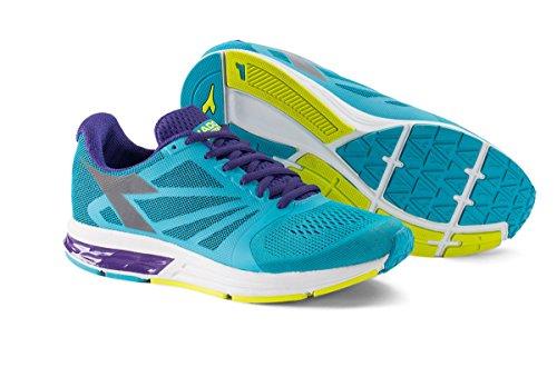 Diadora Scarpa Running Sneaker Jogging Donna KURUKA W Fl cyan bl/heliotrope/sil
