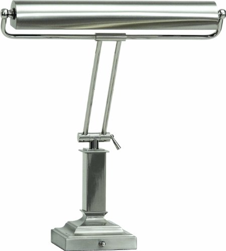 House Of Troy P15-81-5262 18-Inch Portable Desk/Piano Lamp, Satin Nickel with Polished - Lamp 14' Piano Desk