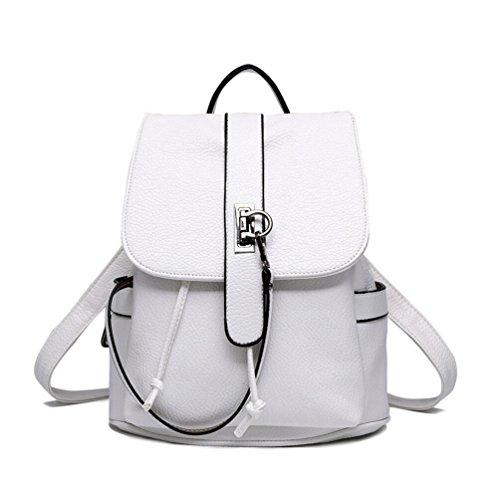 XibeiTrade - Bolso mochila  de Material Sintético para mujer blanco