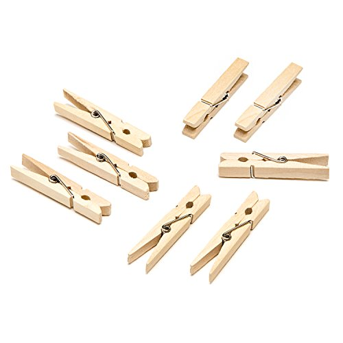 (Darice Natural, 1 7/8 inch Clothespins Medium Size Clothepins 30 Piece)