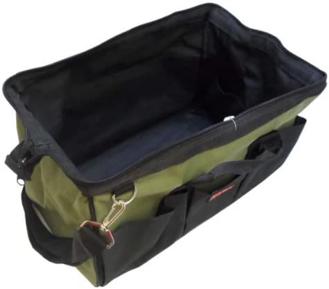 Hawk 16 x 9 X 10 Fold Out Canvas Tool Bag With 22 Pockets, Carry Handles Shoulder Strap AB-18156