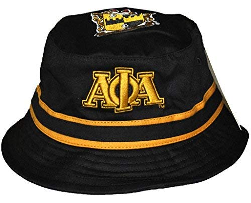 Big Boy Headgear Alpha phi Alpha Fraternity Mens Bucket Hat Black