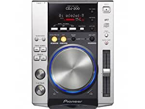 Pioneer CDJ-200 lector y grabador de CD - Unidad de CD (110 Db, 0,006%, 4 - 20000 Hz, CD, CD-R, CD-RW, MP3 CD, 1x RCA, DIGITAL, 16W)