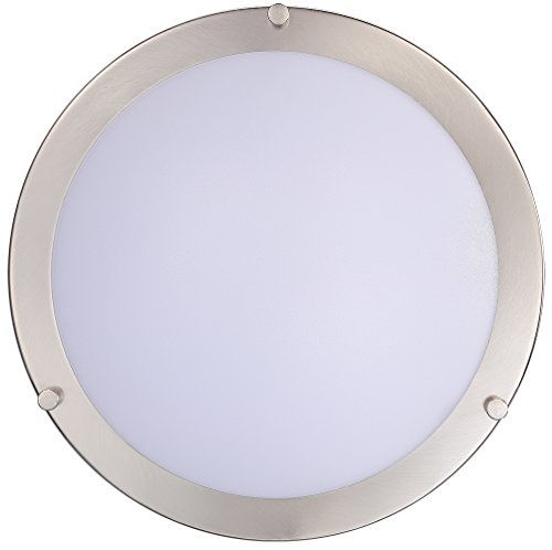 Cloudy Bay LED Flush Mount Ceiling Light,10 inch,17W(120W Equivalent) Dimmable 1150lm,4000K Cool White,Brushed Nickel Round Lighting Fixture for Kitchen,Hallway,Bathroom,Stairwell by Cloudy Bay (Image #3)