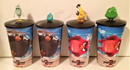 Angry Birds 2 Movie Theater Exclusive Cup Topper Set with 44 oz Cups