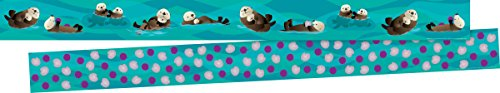 New! Double-Sided Border - Sea & Sky Otters ()