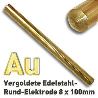 Electrodo dorado, acero inoxidable dorado, 8 x 100 mm ...