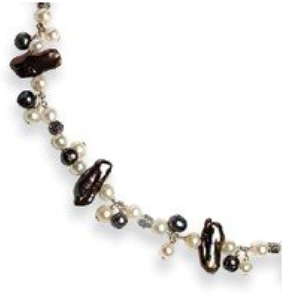 Jewelry Necklaces Pearls Sterling Silver Peacock//White FW Cultured Pearl Necklace