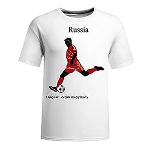 Custom Mens Cotton Short Sleeve Round Neck T-shirt,2014 Brazil FIFA World Cup teams white
