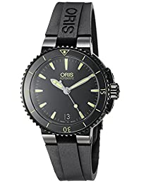 Oris Women's 73376524722RS Aquis Analog Display Swiss Automatic Black Watch