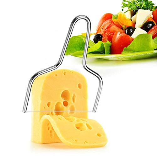 PROKTH Cheese Slicer, Stainless Steel Cheese Knives Slicers with Wire - Kitchen Tools Handheld Butter Cutter Tools for Soft Hard Block Cheese Knives by PROKTH (Image #1)