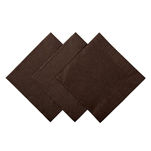 - Royal Chocolate Brown Beverage Napkins, Case of 1,000