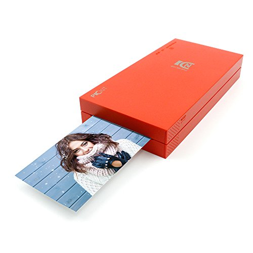 Pickit M2 Portable Photo Printer - Wi-Fi and NFC Compatible with iOS and Android Devices (red)