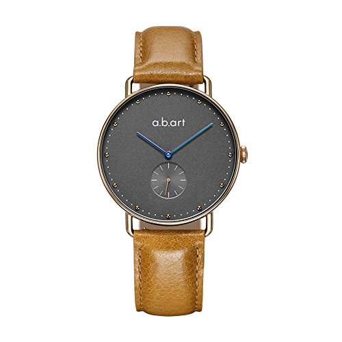 abart Her Watches FR36-004-3L Ladies Watches Croco Alexander Strap Grey Dial Blue Hand Wrist Watch (Light Brown) by a.b.art