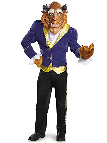 Disney Men's Plus Size Beauty Beast Ultra Prestige Costume Faux Fur, Blue, XX-Large -