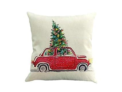XDXDWEWERT Addobbi natalizi Cuscino per auto da divano in lino ...