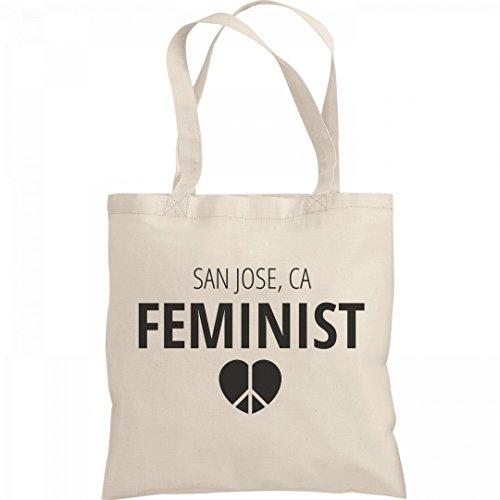 Feminist San Jose, CA Tote Bag: Liberty Bargain Tote - Ca Jose Shopping San