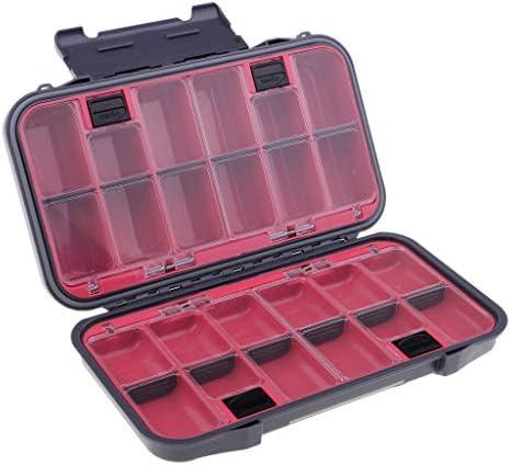 perfeclan Visaasbox accessoirebox plastic box viskoffer aashouder vliegenbox met drukknoppen schakelaar en dubbel slot