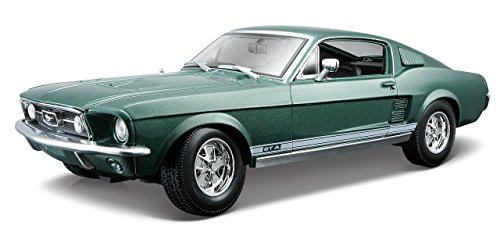 Maisto 1:18 Scale 1967 Ford Mustang GTA Fastback Diecast Vehicle (Colors May (Ford Mustang Diecast 1 18)