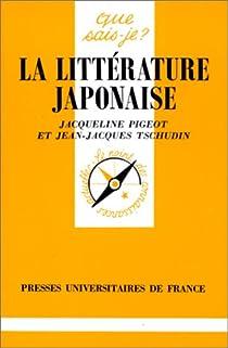 La littérature japonaise par Tschudin
