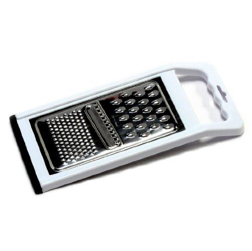 (Chef Craft 21005 Non-Skid Bottom Flat Grater, Stainless Steel Plastic)