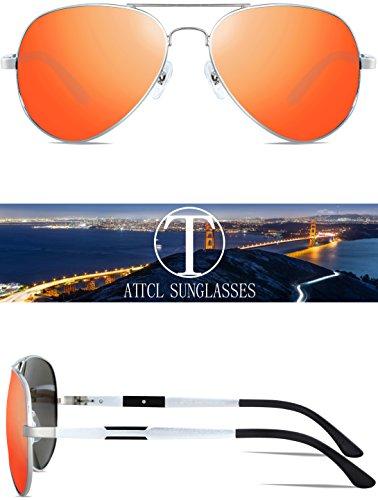 Ligero Mg Al De Metal Hombres De Sol Polarizadas Marco Súper Gafas ATTCL Rojo RT8wq8