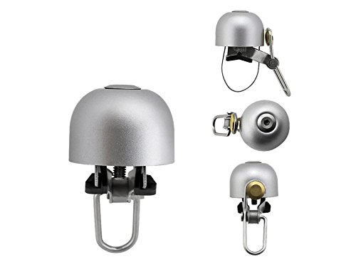 Wesource Bike Bell Classic Bike Loud Ring Bell Cycle Bike Vintage Chrome Plated Retro Bugle Horn Bell (Sliver)