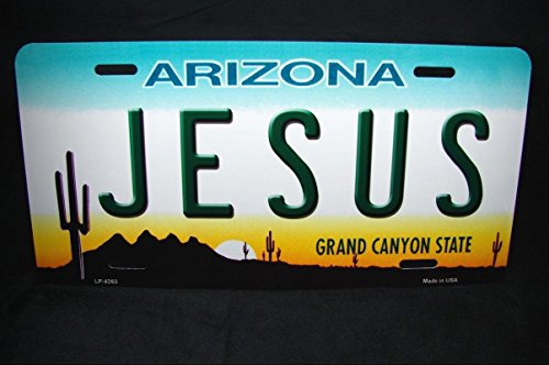 Jesus Arizona State Metal Novelty License Plate For Cars